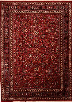 "Mashad Red Hand Knotted 11'6"" X 16'3""  Area Rug 100-25580"
