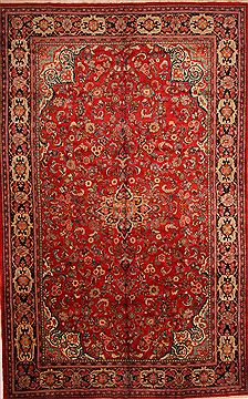 "Mahal Red Hand Knotted 10'6"" X 17'0""  Area Rug 100-25595"