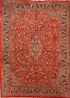 "Mahal Red Hand Knotted 11'1"" X 15'5""  Area Rug 100-25627"