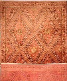 "Qashqai Red Hand Knotted 13'0"" X 19'0""  Area Rug 100-25654"