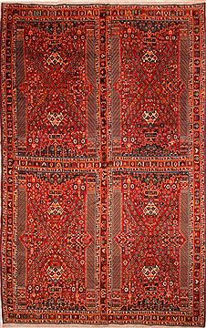 """Persian Ghashghaei  Wool Red Over Size Area Rug  (10'5"""" x 16'10"""") - 253 - 25672"""