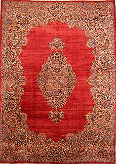 "Kerman Red Hand Knotted 11'10"" X 16'9""  Area Rug 100-25675"