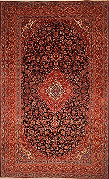 "Kashan Red Hand Knotted 11'7"" X 19'2""  Area Rug 100-25677"