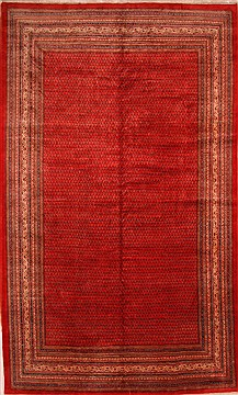 "Sarouk Red Hand Knotted 10'3"" X 16'10""  Area Rug 100-25709"