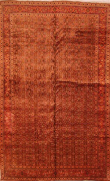 "Tabriz Red Hand Knotted 9'10"" X 16'1""  Area Rug 100-25718"