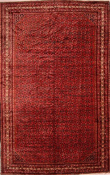 "Enjilas Red Hand Knotted 10'5"" X 16'9""  Area Rug 100-25734"