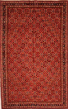 "Qashqai Red Hand Knotted 9'1"" X 16'1""  Area Rug 100-25746"