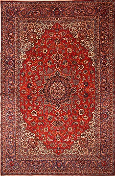 Persian Isfahan Red Rectangle 12x18 ft Wool Carpet 25754