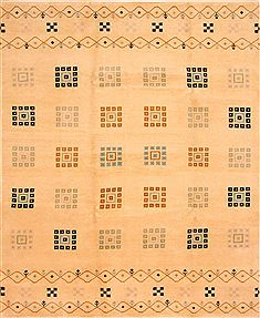 "Gabbeh Beige Hand Knotted 8'3"" X 10'0""  Area Rug 100-25779"