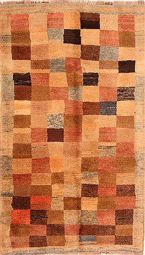 "Gabbeh Multicolor Hand Knotted 5'10"" X 10'2""  Area Rug 100-25783"