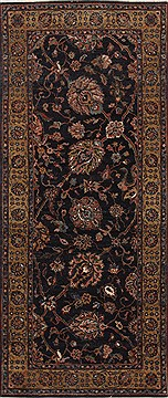 "Tabriz Brown Runner Hand Knotted 2'6"" X 5'11""  Area Rug 250-25793"