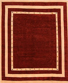 "Gabbeh Brown Hand Knotted 8'4"" X 9'10""  Area Rug 100-25825"