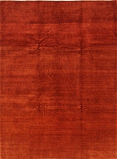 "Gabbeh Red Hand Knotted 8'4"" X 11'2""  Area Rug 100-25837"