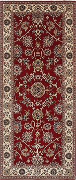 """Indian Isfahan  Wool Beige Runner Area Rug  (2'8"""" x 6'1"""") - 250 - 25893"""