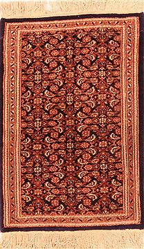 "Tabriz Red Hand Knotted 1'8"" X 2'7""  Area Rug 100-25923"