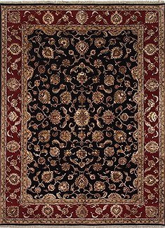 Indian Kashmir Beige Rectangle 9x12 ft Wool Carpet 25932