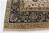 Isfahan Beige Hand Knotted 91 X 130  Area Rug 250-26177 Thumb 5