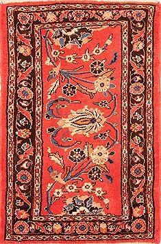 "Persian Mehravan  Wool Red Area Rug  (2'0"" x 2'11"") - 253 - 26261"