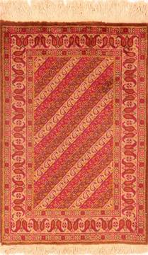 "Tabriz Red Hand Knotted 1'11"" X 2'10""  Area Rug 100-26279"