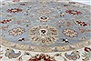 Ziegler Beige Round Hand Knotted 180 X 180  Area Rug 250-26396 Thumb 2