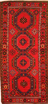 "Karabakh Red Runner Hand Knotted 3'11"" X 8'8""  Area Rug 100-26548"