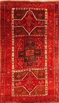 "Kazak Red Hand Knotted 4'6"" X 8'2""  Area Rug 100-26550"