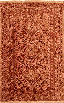 Persian Afshar Brown Rectangle 5x7 ft Wool Carpet 26562