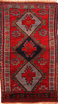 "Kazak Red Hand Knotted 4'6"" X 7'9""  Area Rug 100-26565"