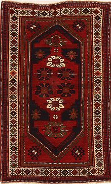 "Kazak Red Hand Knotted 4'9"" X 7'8""  Area Rug 100-26566"