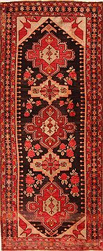 "Karabakh Red Runner Hand Knotted 4'11"" X 11'6""  Area Rug 100-26569"
