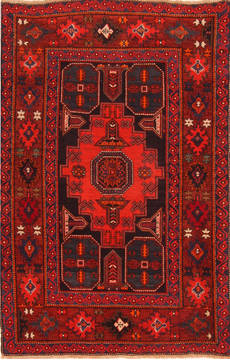 "Kazak Red Hand Knotted 4'7"" X 6'10""  Area Rug 100-26572"