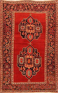 "Kazak Red Hand Knotted 4'2"" X 6'6""  Area Rug 100-26573"