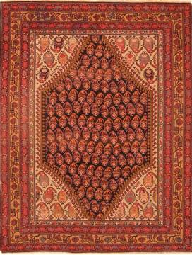 "Malayer Red Hand Knotted 5'0"" X 6'4""  Area Rug 100-26574"