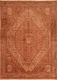 Persian Abadeh Beige Rectangle 6x9 ft Wool Carpet 26612
