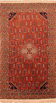 "Shirvan Red Hand Knotted 4'0"" X 6'10""  Area Rug 100-26653"