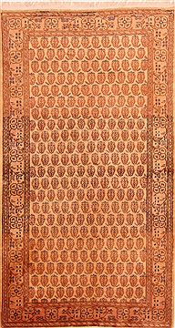 "Karabakh Brown Hand Knotted 3'10"" X 6'11""  Area Rug 100-26656"