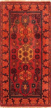 "Koliai Red Hand Knotted 2'11"" X 5'11""  Area Rug 100-26668"