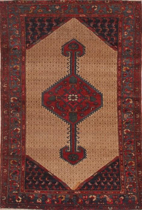 Persian Koliai Beige Square 5x7 Ft Wool Carpet 26688