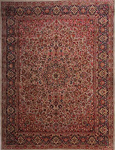Kerman Green Hand Knotted 10 0 X 13 1 Area Rug 400