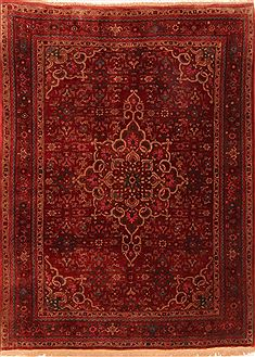 "Bidjar Red Hand Knotted 3'10"" X 5'3""  Area Rug 100-26740"