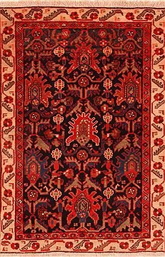Persian Malayer Red Rectangle 3x4 ft Wool Carpet 26755