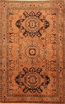 "Kazak Brown Hand Knotted 4'3"" X 6'9""  Area Rug 100-26756"