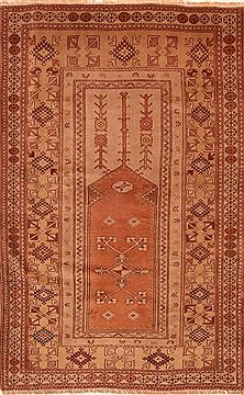 "Kazak Brown Hand Knotted 4'4"" X 6'9""  Area Rug 100-26787"