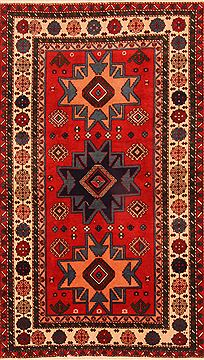 "Shirvan Red Hand Knotted 3'8"" X 6'3""  Area Rug 100-26809"