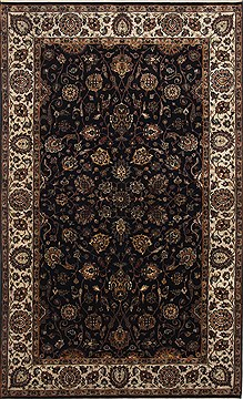 "Agra Beige Hand Knotted 5'0"" X 8'2""  Area Rug 250-26810"