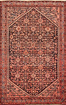 "Maymeh Multicolor Hand Knotted 4'1"" X 6'4""  Area Rug 100-26818"