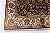 Isfahan Beige Hand Knotted 51 X 82  Area Rug 250-26832 Thumb 7