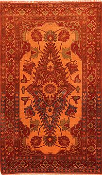 "Kurdi-Bof Red Hand Knotted 4'2"" X 6'10""  Area Rug 100-26840"