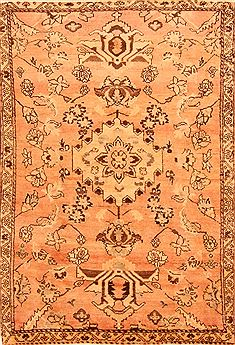 Persian Hamedan Brown Rectangle 4x6 ft Wool Carpet 26842