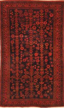 "Shiraz Red Hand Knotted 3'10"" X 6'2""  Area Rug 100-26849"